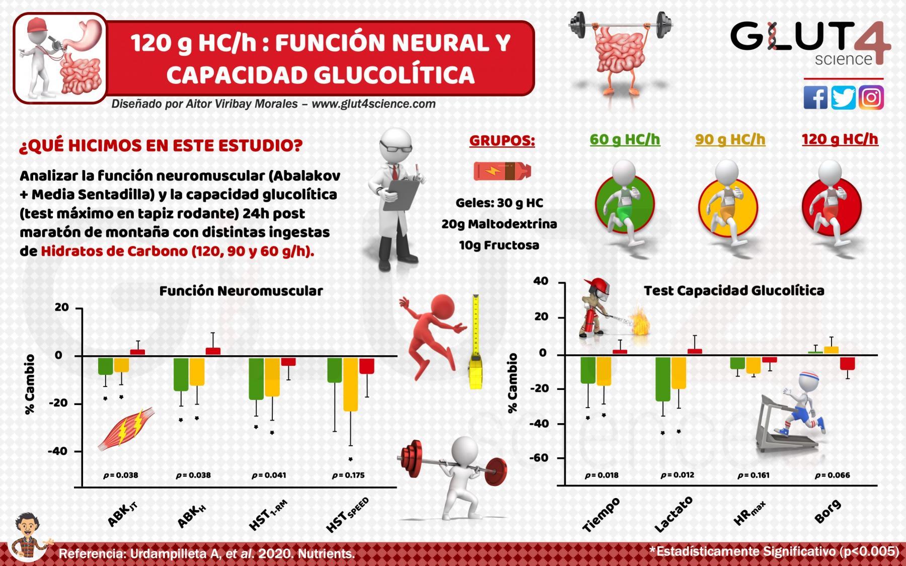 120 gramos por hora de Hidratos de Carbono mejoran la recuperación