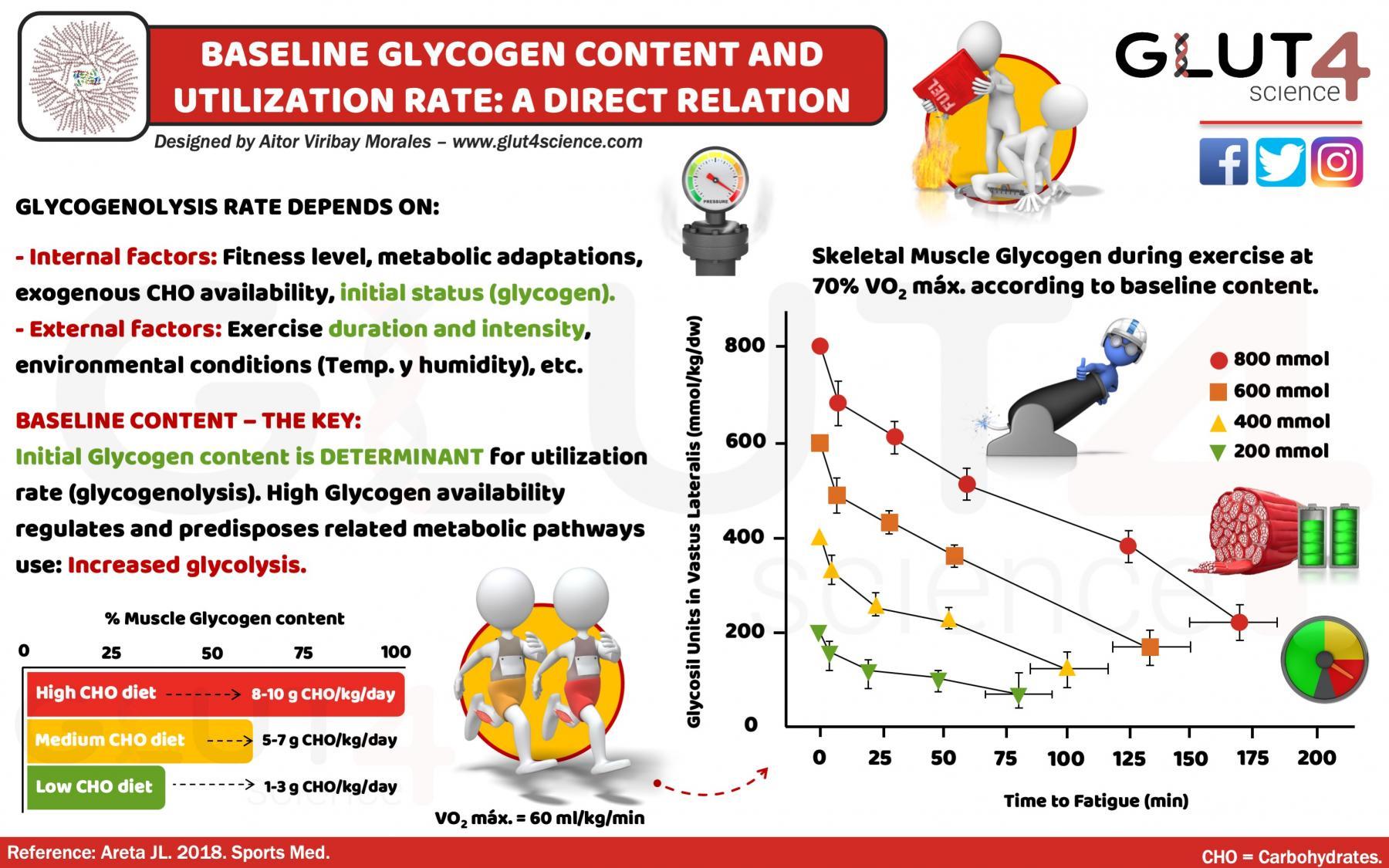 Baseline Glycogen and utilization: a direct relation.