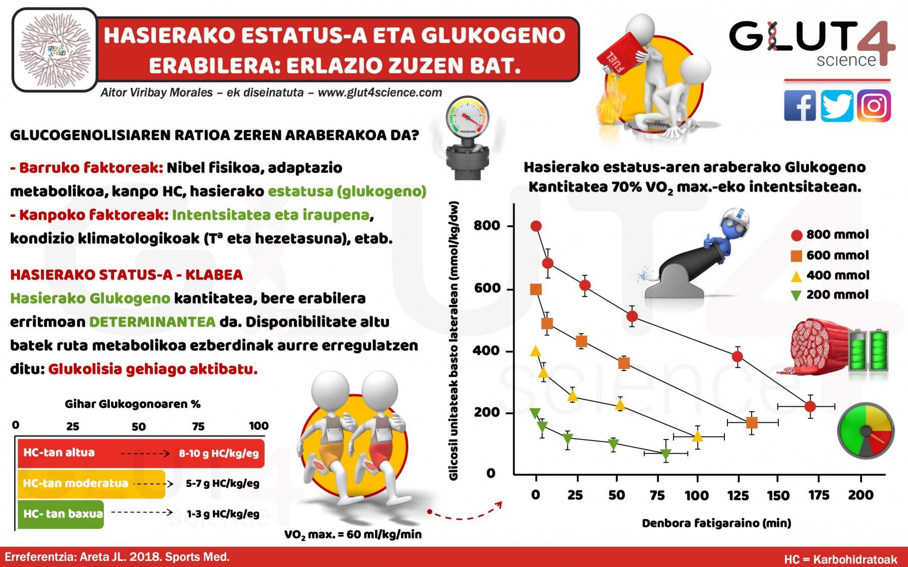 Glukogenoaren erabilera eta asiera estatusa