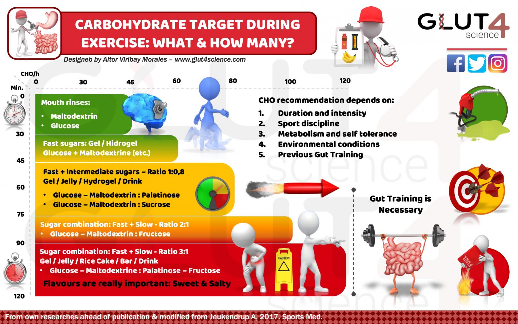 Carbohydrate recommendations during exercise